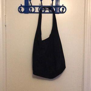 Handbags - Suede navy blue hobo bag